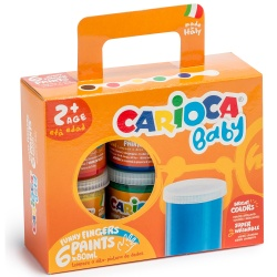 Acuarele Baby Finger Paint Carioca 6x80 ml