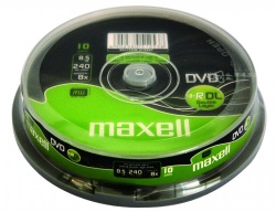 DVD+R DL 8.5GB 240min 8x 10/spindle Maxell