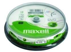 DVD+R DL 8.5GB 240min 8x 10/spindle printabil Maxell