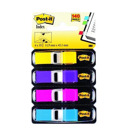 PageMarker 12x43mm 4 culori/set 140f neon Post-it