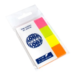 PageMarker 20x50mm 4 culori/set 160 file briliant Global Notes
