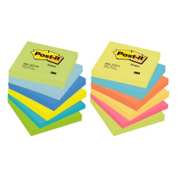 Notes adeziv 76x76mm 100file neon Post-it 3M