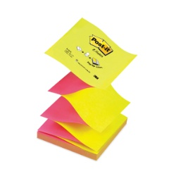 "Notes adeziv 76x76mm ""Z""100 file g/roz neon Post-it"